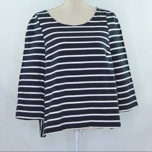 Lord & Taylor Striped Tunic Top Size L NWT